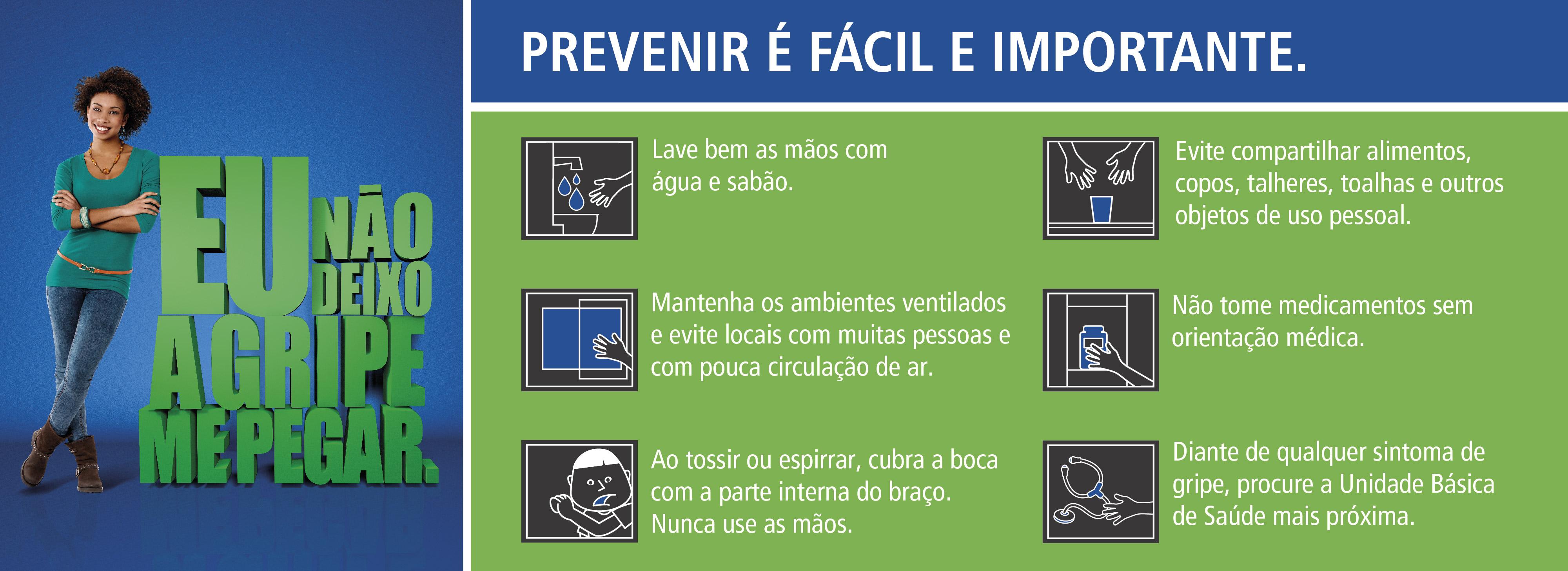 Secretaria de Saúde de MG dá dicas para a prevenção da gripe. ARTE: Secretaria de Estado de Saúde de Minas Gerais