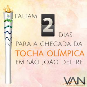 A cada dia mais próxima, a Tocha Olímpica chega em SJDR daqui a  dois dias! ARTE/VAN: Laila Zin
