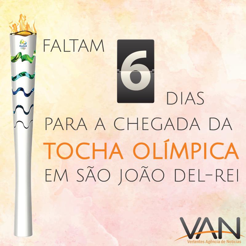 Passagem da Tocha Olímpica se aproxima em São João del-Rei