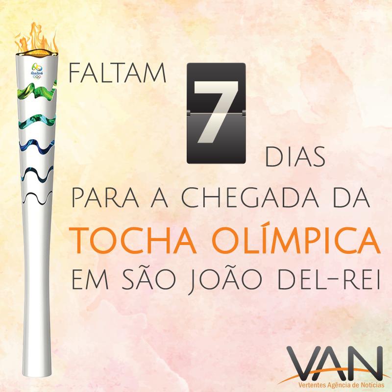 Resta uma semana para a chegada da Tocha Olímpica em SJDR