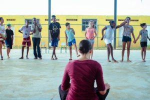 """Ensaio da peça apresentadas pelos alunos do Cajuru: """"Gheysla: A santa misteriosa Alta"""". FOTO: Teatro da Pedra"""