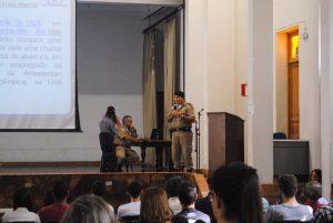 Polícia Militar presidiu o treinamento dos voluntários. FOTO/VAN: Lucas Almeida