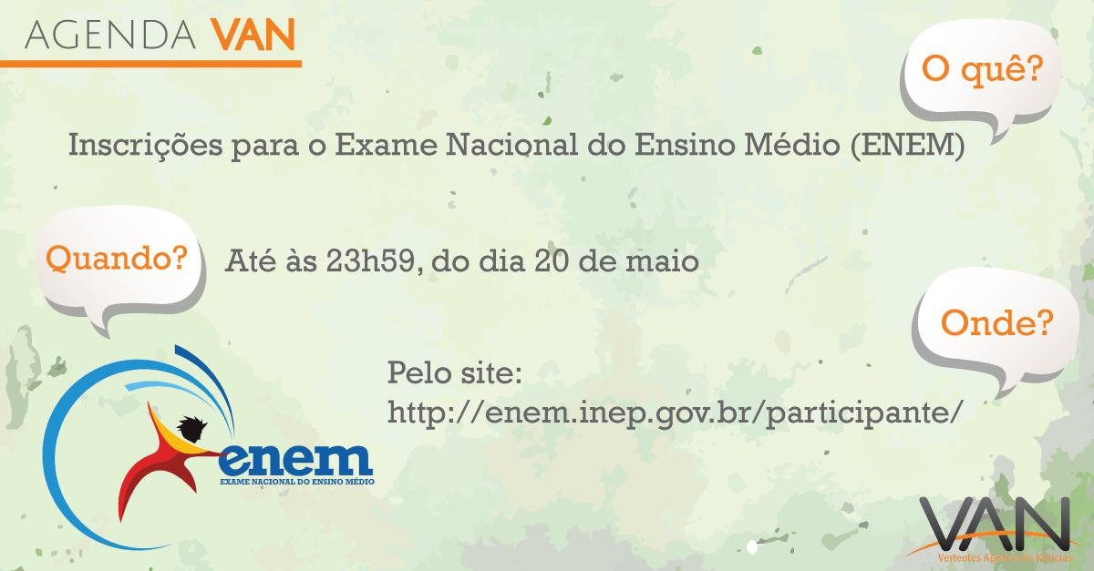 Inscrições do ENEM vão até amanhã, 20!