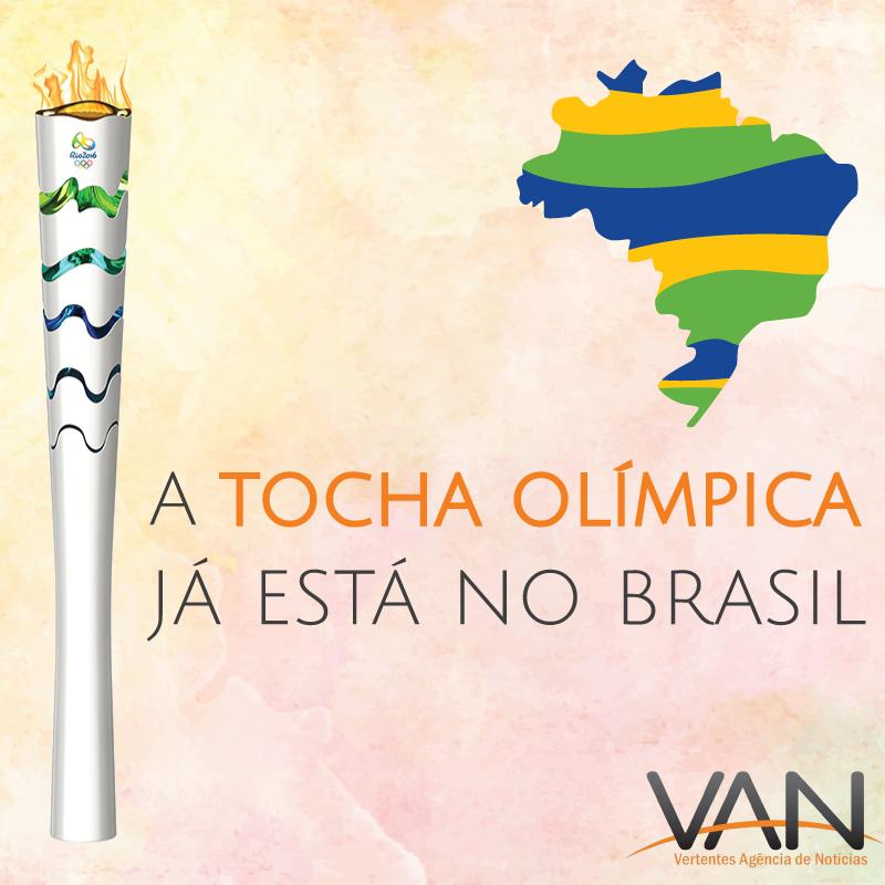 Tocha Olimpíca chega ao Brasil para percorrer 328 cidades