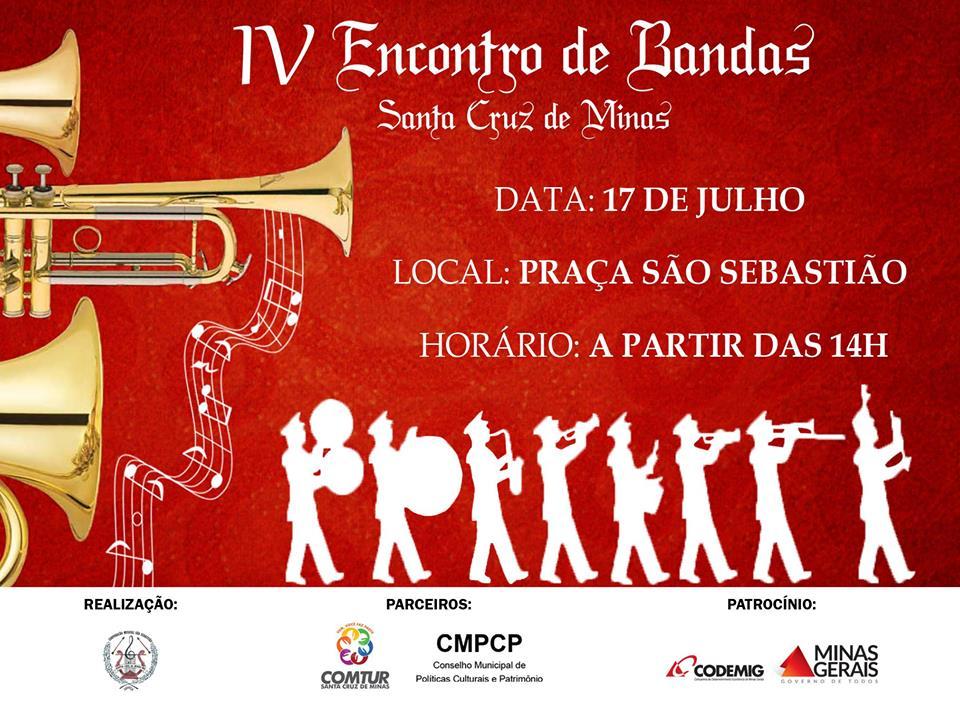 Quarta edição do Encontro de Bandas de Santa Cruz de Minas traz novidades