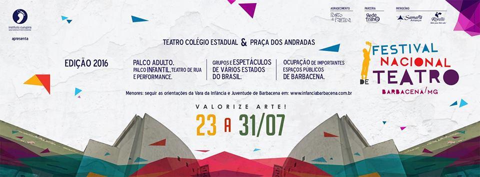 Festival Nacional de Teatro de Barbacena começa nesse fim de semana
