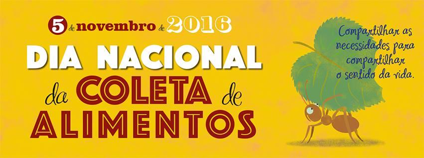 Dia Nacional da Coleta de Alimentos acontece dia 5 de Novembro em São João del-Rei - IMAGEM: Organização
