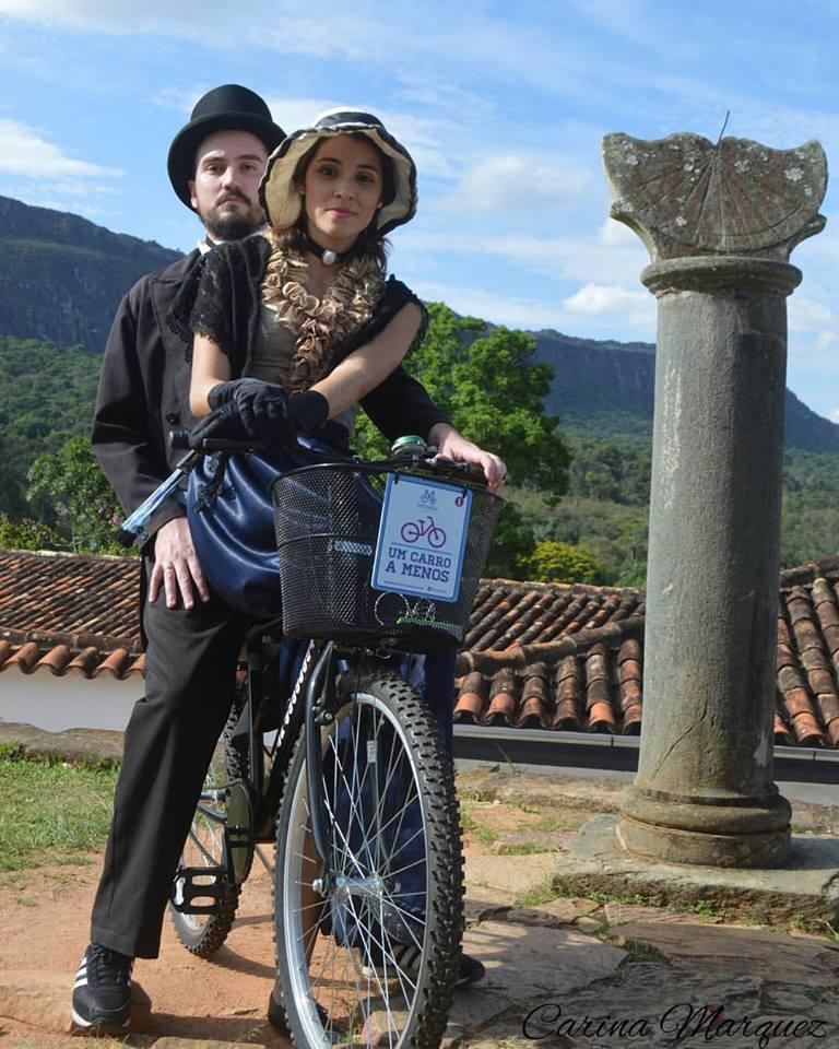Turistas com a Bike em Tiradentes