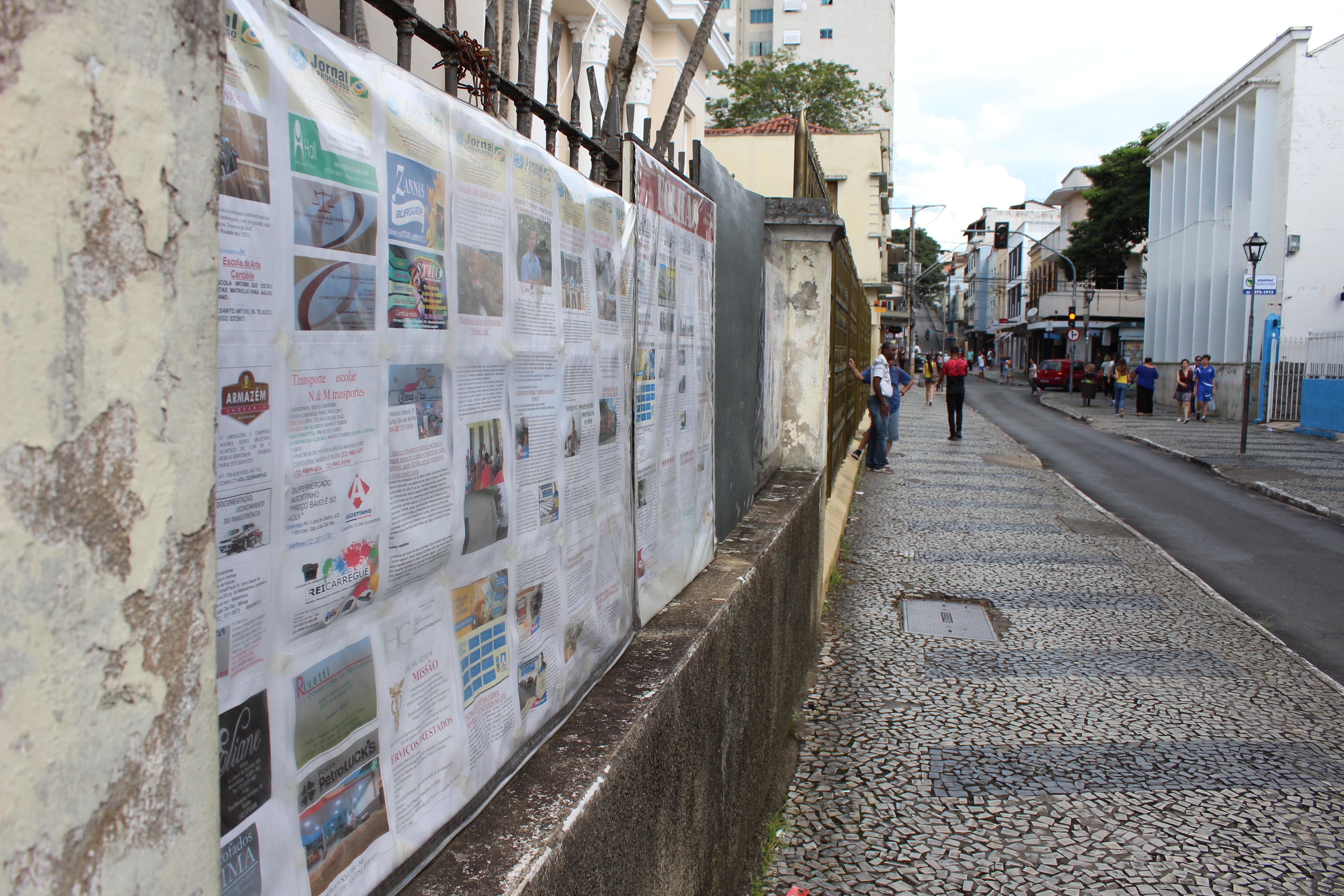 Jornais Murais podem se tornar patrimônio público imaterial da cidade  São João del- Rei