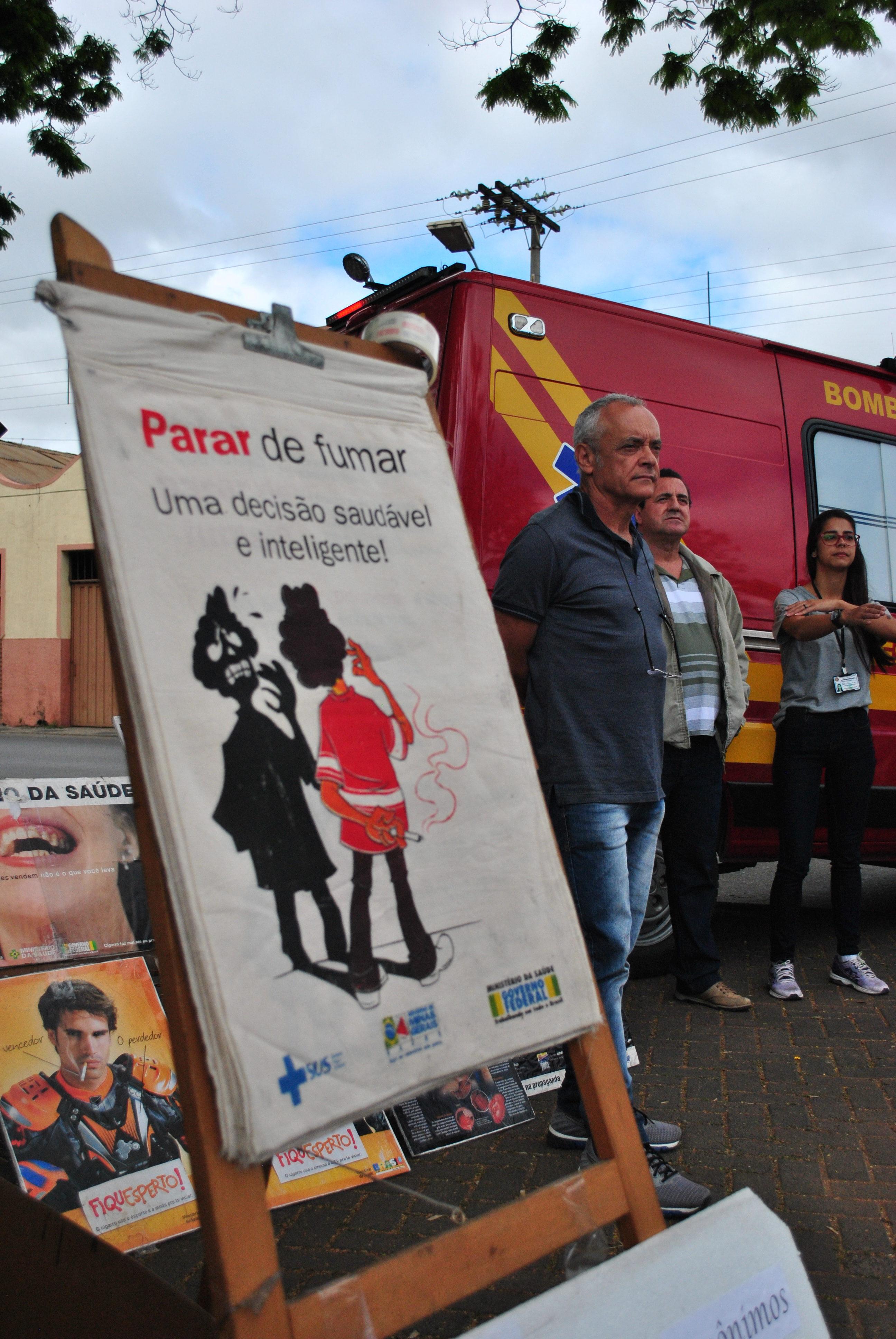 Movimento contra o fumo mobiliza São João del-Rei
