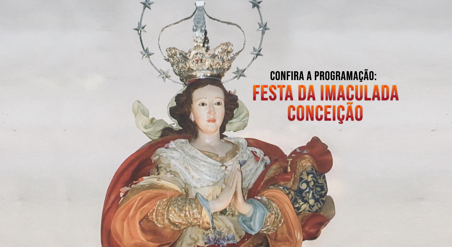 Confira a programação de SJDR e região para o dia da Imaculada Conceição